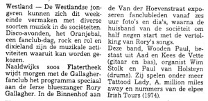 Wooden Paul in de Westlansche Courant (29-04-1977)